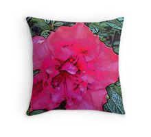 Magenta Azalea Throw Pillow