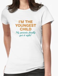 Youngest Child Womens Fitted T-Shirt