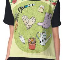 The Gardening Devotee Chiffon Top