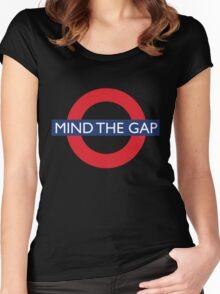 Mind The Gap - British - London Underground Design Women's Fitted Scoop T-Shirt
