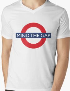 Mind The Gap - British - London Underground Design Mens V-Neck T-Shirt