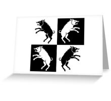 4 evil pigs Greeting Card