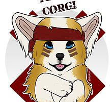 Tough Corgi, Ready for Battle! by Shibabu