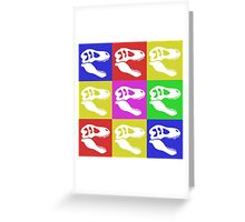 Tyrannosaur in Color Greeting Card