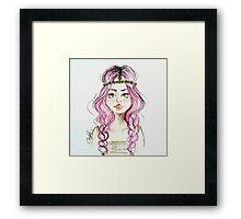Tumblr Girl Framed Print