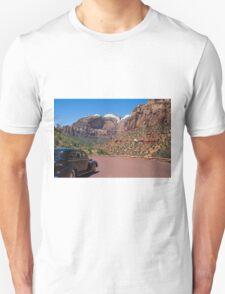 Vintage car in Zion Valley Unisex T-Shirt