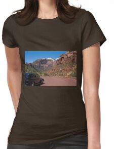 Vintage car in Zion Valley Womens Fitted T-Shirt
