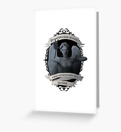 Weeping Angel - Doctor Who Greeting Card