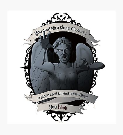 Weeping Angel - Doctor Who Photographic Print