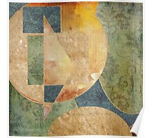 Abstract Grunge Patchwork Poster