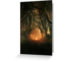 When the day begins Greeting Card