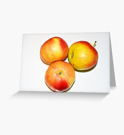 The 3 Apples - Apple Laptop Apple Phone, Apple Tablet... Greeting Card