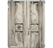 The door of the white building at the entrance to the Royal Rock Temple complex location Dambulla iPad Case/Skin