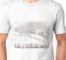 Vintage Map of Calcutta India (1842) Unisex T-Shirt