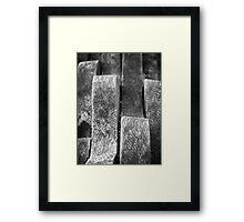 Wavy wood Framed Print