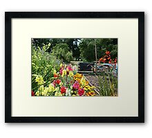 English country garden scene Framed Print