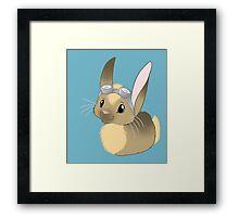 Goggle Bunny Framed Print