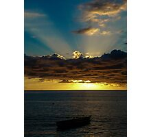 Sunset Soufriere Photographic Print