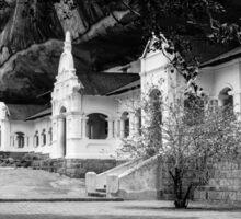 The Royal Rock Temple complex location Dambulla Sticker