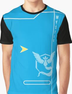 Blue Mystic Pokedex Graphic T-Shirt