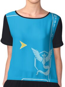 Blue Mystic Pokedex Chiffon Top