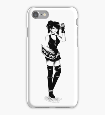 Female Duelist (black and white) iPhone Case/Skin