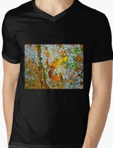 flowers white red yellow  Mens V-Neck T-Shirt