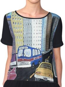 Uncle Eddy's Yellow Taxi Chiffon Top