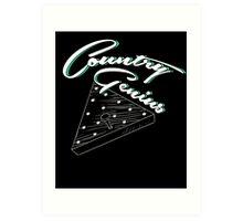Country Genius - Restaurant Triangle Peg Tee Game Art Print