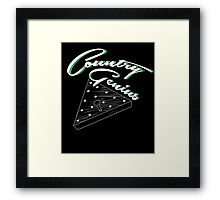 Country Genius - Restaurant Triangle Peg Tee Game Framed Print