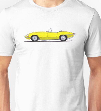 Jaguar E-type (yellow) Unisex T-Shirt