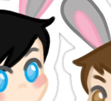tiny bunny dan and phil Sticker