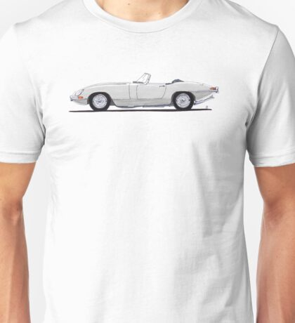 Jaguar E-type (silver) Unisex T-Shirt