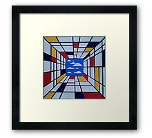 in the style of Mondrian - perfect for pillow Framed Print