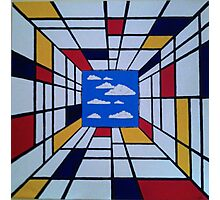 in the style of Mondrian - perfect for pillow Photographic Print