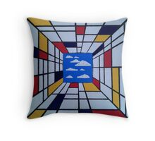 in the style of Mondrian - perfect for pillow Throw Pillow