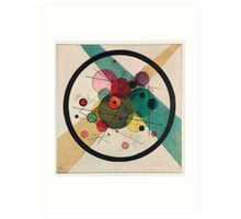 In the style of Kandinsky - perfect for bed Art Print