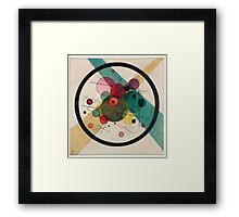 In the style of Kandinsky - perfect for bed Framed Print