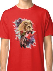girl and lion Classic T-Shirt