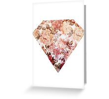 Floral Diamond Greeting Card