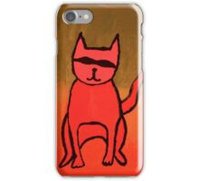 bandit cat iPhone Case/Skin