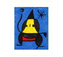 In the style of Miro - Dancing Art Print