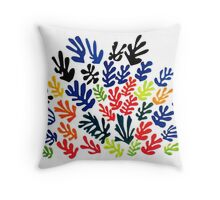 In the style of matisse flowers 1 Throw Pillow