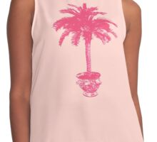 Potted Palm Tree - coral pink Contrast Tank