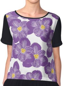 There'll Be Crocuses Chiffon Top
