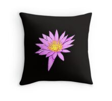 Pink Water Lily Throw Pillow