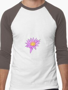 Pink Water Lily Men's Baseball ¾ T-Shirt