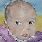 portrait d'Elise 3 mois by Aline Gason