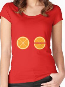 Orange Slices Women's Fitted Scoop T-Shirt