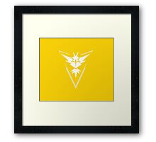Team Instinct Logo from Pokemon Go T-shirt and other products Framed Print